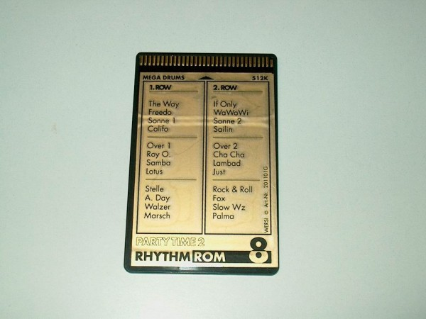 ROM8-R - Rhythm Memory Card Party Time 2 für Wersi CD-Line Instrumente