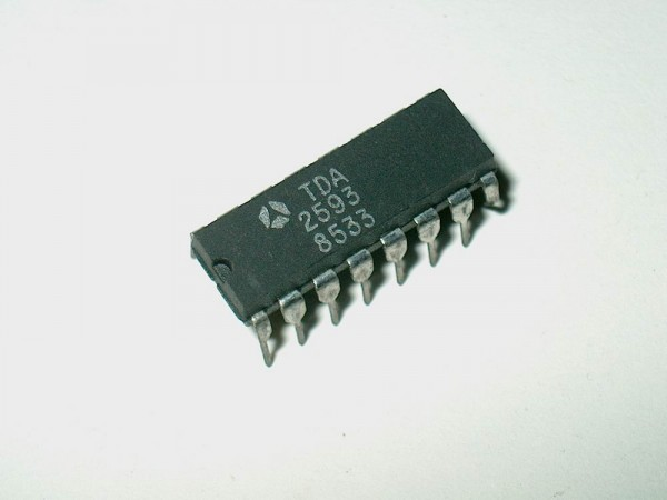 TDA2593 - Ic Baustein DIP16 SYNCHRO AND HORIZONTAL DEFLECTION CONTROL FOR COLOR